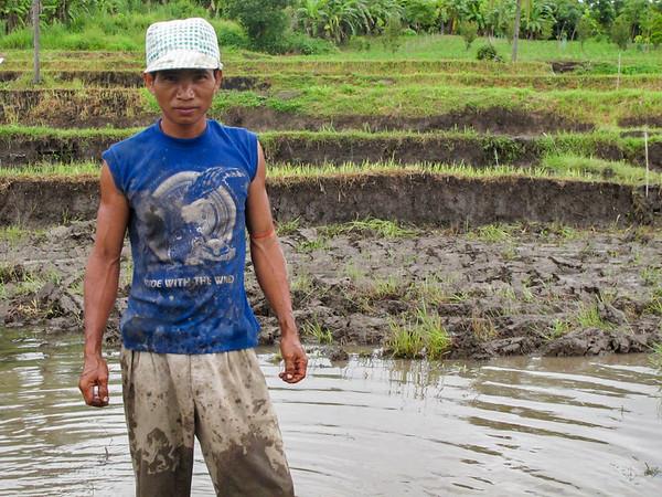 Ashi, a Burmese refugee, near the border in Thailand
