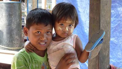 Big eyes in Burma. Border between Burma and Thailand, 2011