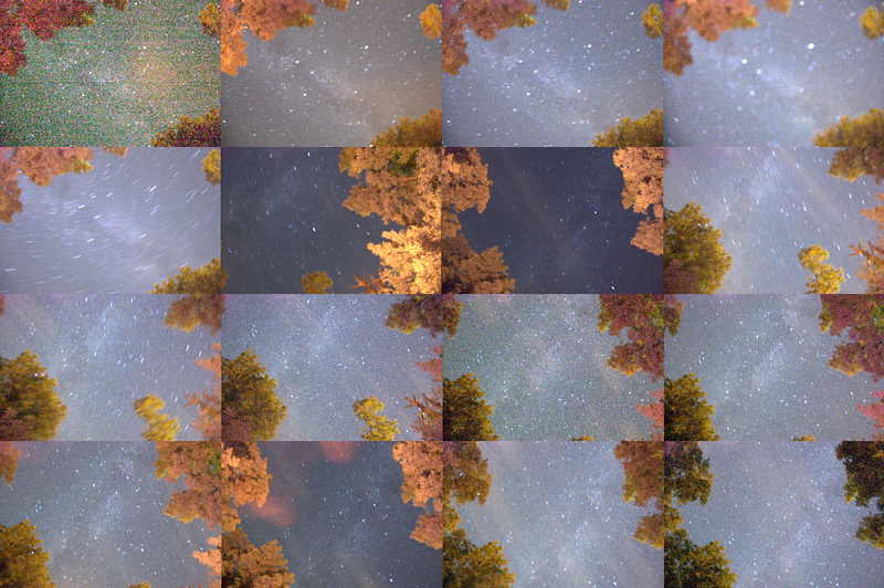 I couldn't decide which picture of stars I liked best, so I decided to combine all of them.