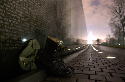 Boots at the Vietnam Memorial