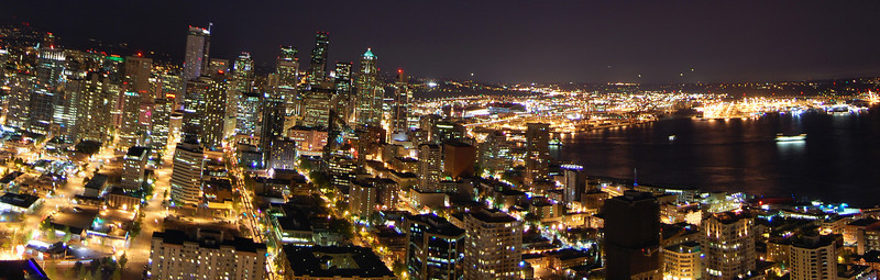 "Panorama of Seattle at night.<br /> Full version: <a href=""http://photos.kevinworkman.com/Pictures/2011/i-QRQcV8L/1/O/SeattleNightPanorama11.jpg"">http://photos.kevinworkman.com/Pictures/2011/i-QRQcV8L/1/O/SeattleNightPanorama11.jpg</a>"