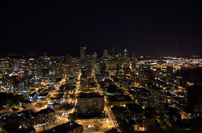 Seattle at night.