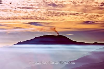 Volcanic Island in the Mist