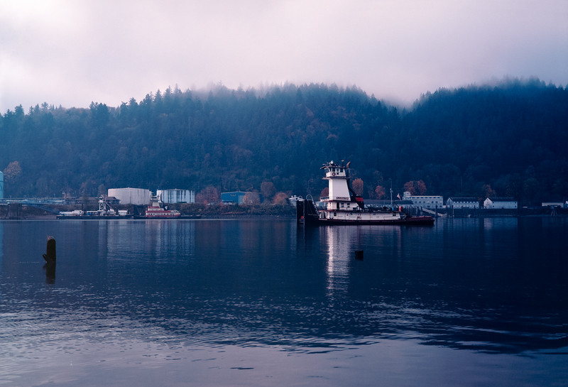 The Tugboat Clearwater On The Willamette River