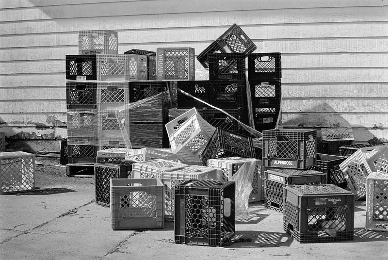Empty Milk Crates