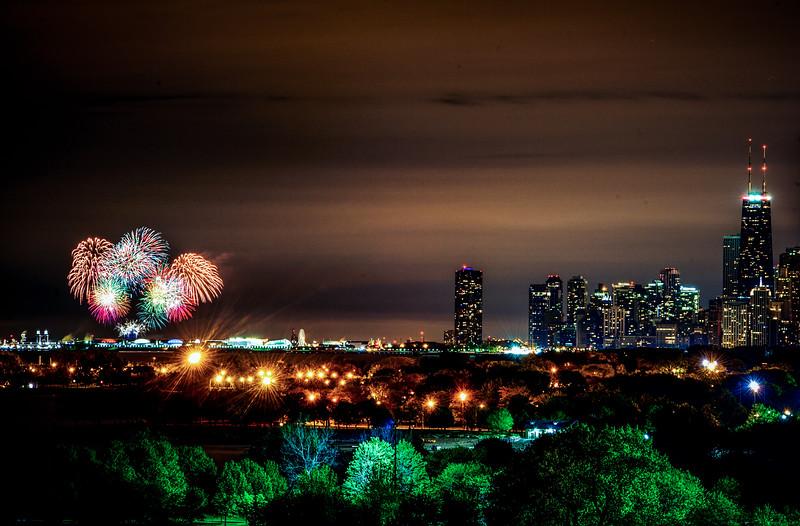Navy Pier summer fireworks, 2013