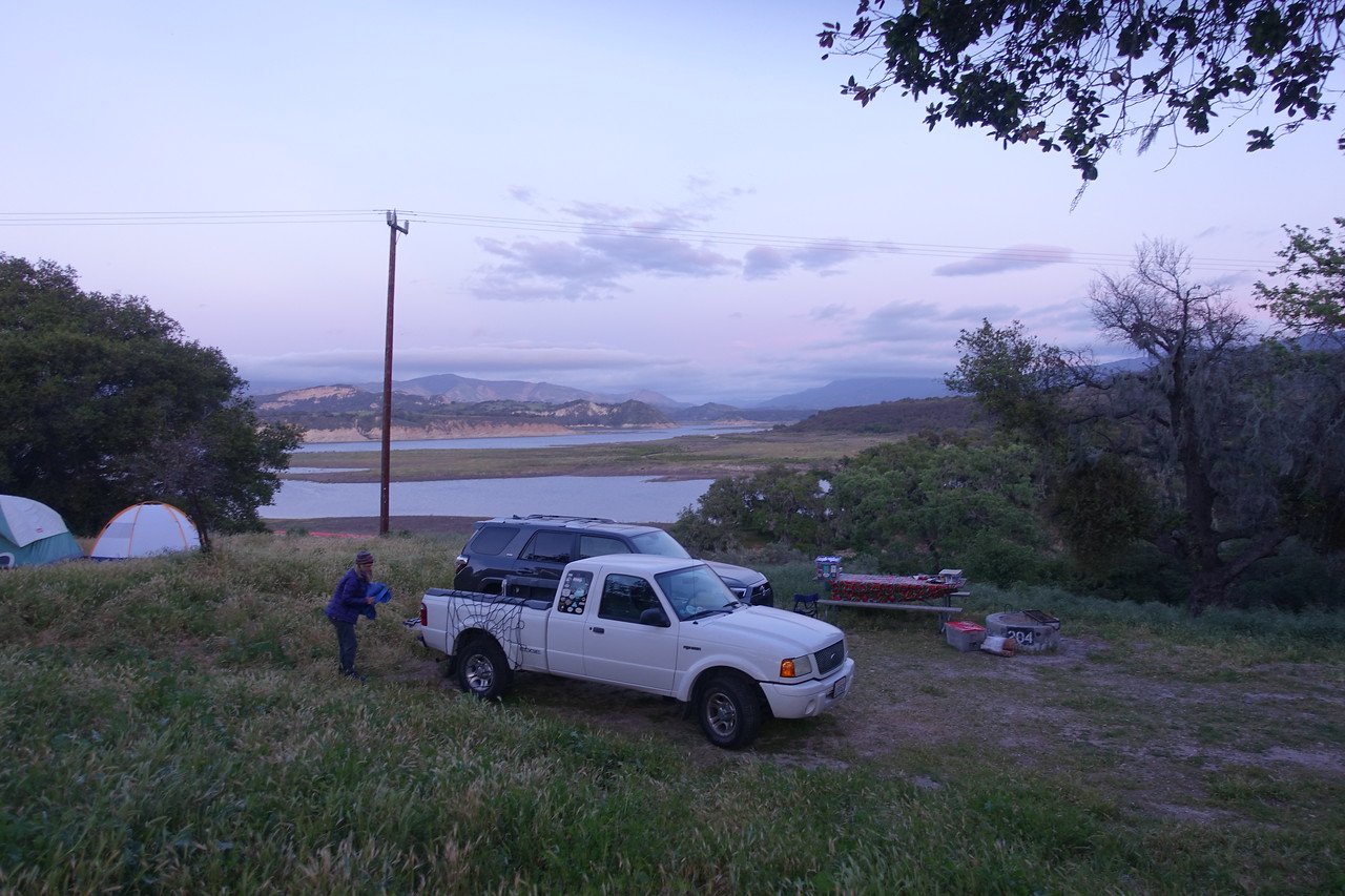 Camp spot at Cachuma Lake