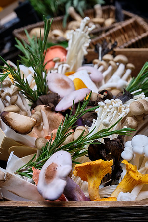 A Beautiful Assortment Of Mushroom At The Borough Market - London, United Kingdom