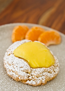 Delicious Lemon Scone With Orange Slices