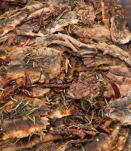 La Paz Mexico Novemeber 2012 Sardine Cook Off!  With rosemary and chilies. Delicious.