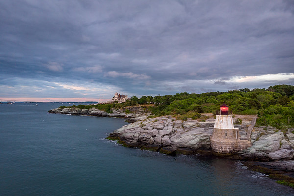 Castle Hill Lighthouse marking the east passage to Narragansett Bay, Newport RI.