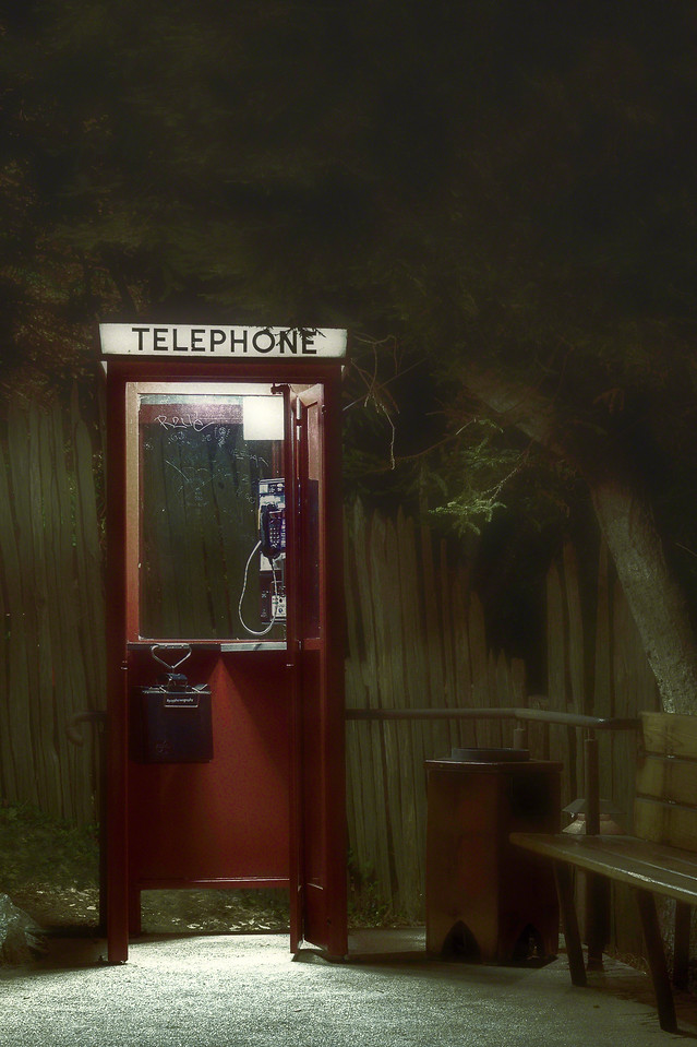 Phone Booth on a deserted highway with Intentionally Lost and Kevin Wenning #intentionallylost