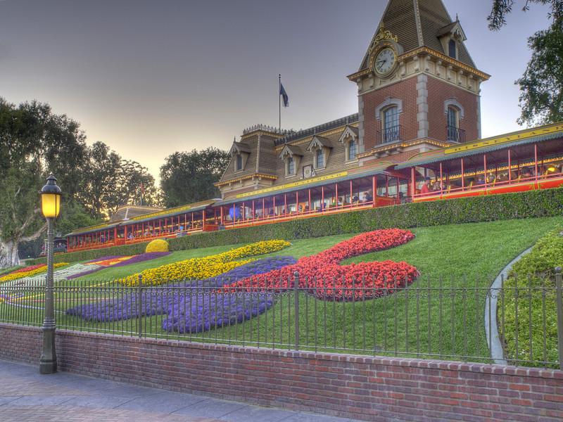 Train Station at Disneyland - HDR - 20 May 2010