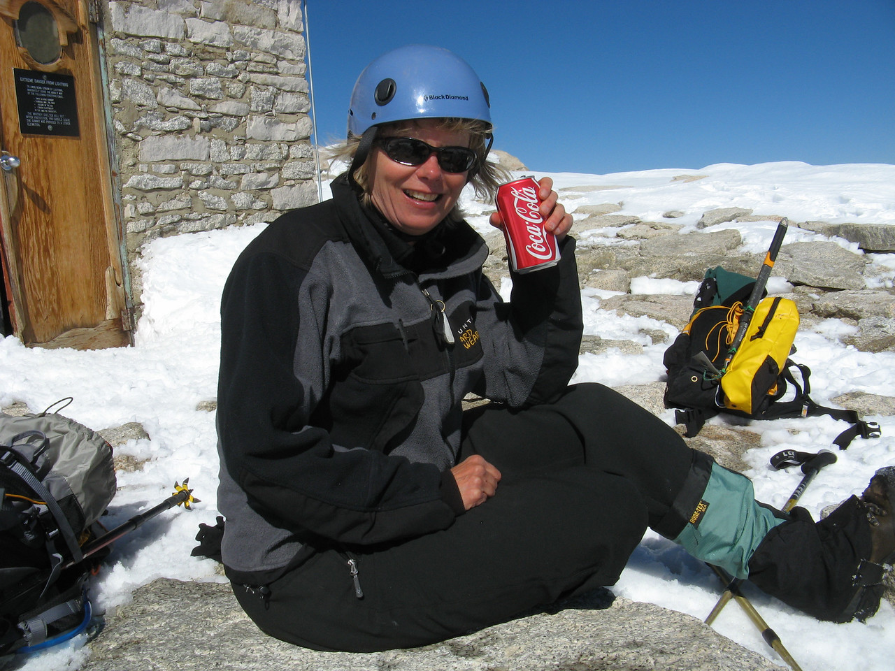 Everything goes better with Coke, even summiting!  Thanx RickG for the idea.  It was great pick-me-up