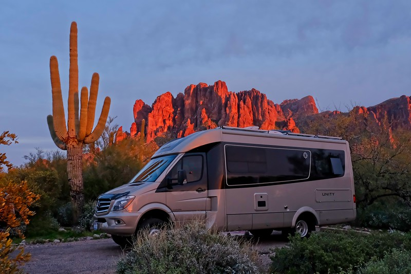 Camped at Lost Dutchman
