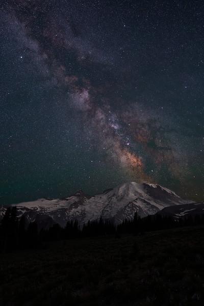 Mt Rainier & Milky Way