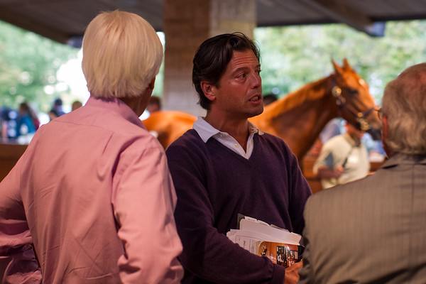 George Bolton and Bob Baffert in the back sales ring 9.10.2012