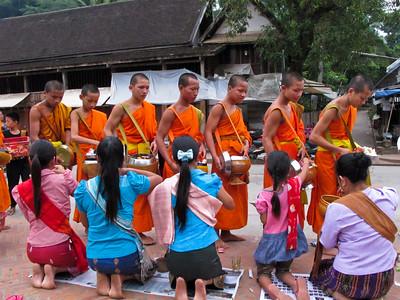 Dawn alms-giving, Luang Prabang, Laos
