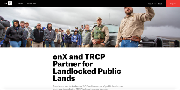 Writing, photography and social media for onX Hunt regarding landlocked public lands.  https://www.onxmaps.com/blog/landlocked-public-lands-onx-trcp-improve-access