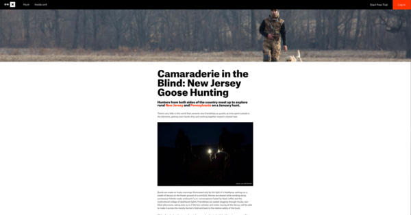 Assignment for onX Hunt for stock images, blog, dedicated email and social media campaign / stories (see onX Hunt Case Study for more.)  https://www.onxmaps.com/blog/goose-hunting-new-jersey-camaraderie-in-the-blind