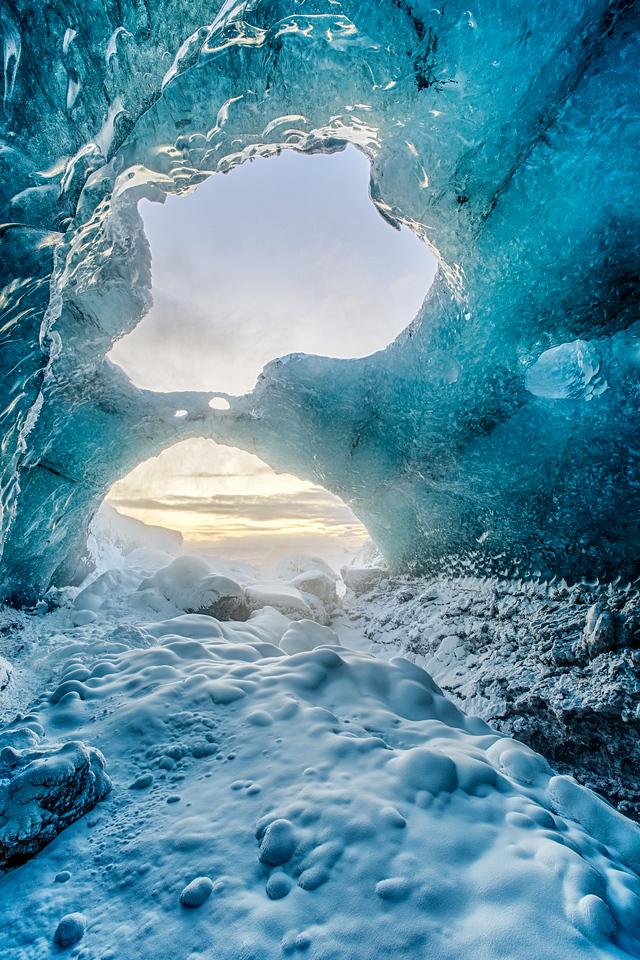 Ice Cave Sunrise!