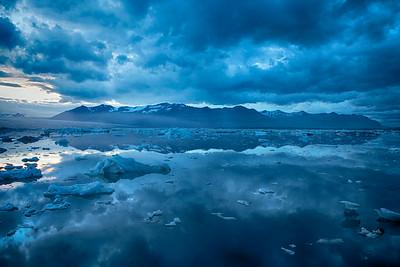 Blue Hues at the Glacial Lagoon