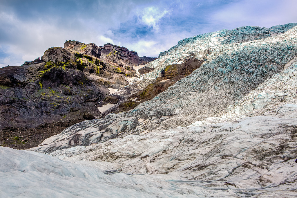 Looking up to the top of the Vatnajökull Glacier