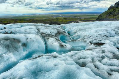 View from the Vatnajokull Glacier