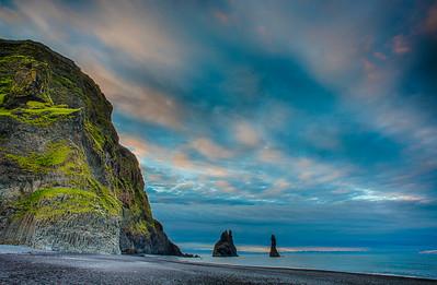 Reynisdrangar Stacks at Dawn