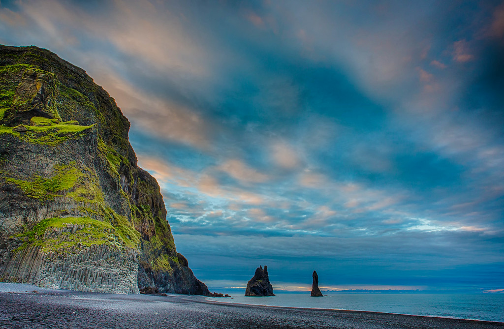 Reynisdrangar Stacks at Dawn