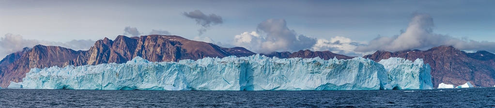 Giant Iceberg Pano in Greenland