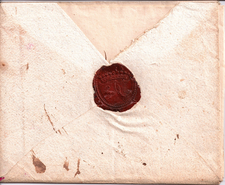 Зворотній бік конверти з сургучевою печаткою