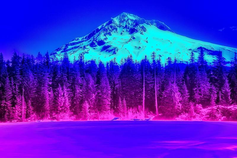 Mt Hood from Burnt Lake