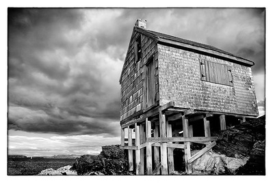 Shack on Willard Beach South Portland Maine Infrared