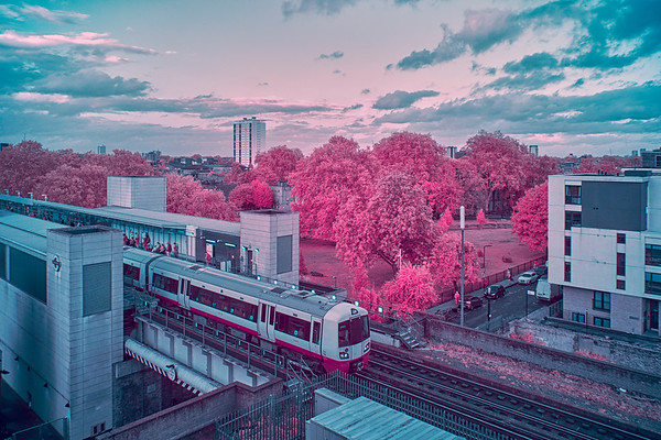 Arriving At Haggerston Station - London