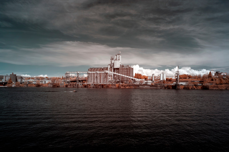 Grain Elevator on the Willamette, Portland, Oregon