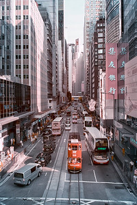 Traffic in Central District - Hong Kong Island
