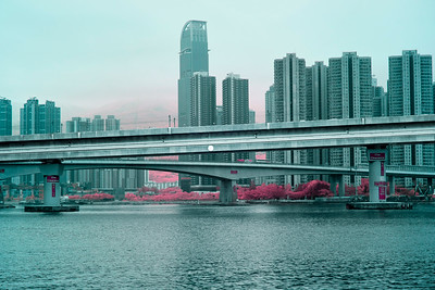 Looking Across The Rambler Channel - Tsuen Wan, Hong Kong