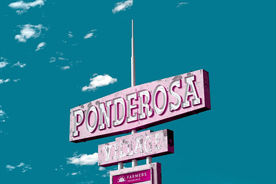 Ponderosa Village Sign - Burns, Oregon