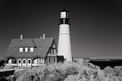 Portland Head and Ram Ledge Lighthouses in Infrared-Portland Head Lighthouse-Cape Elizabeth, Maine-United States