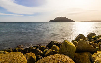 Clauchlands point, and the familiar sillhouette of Holy Isle.