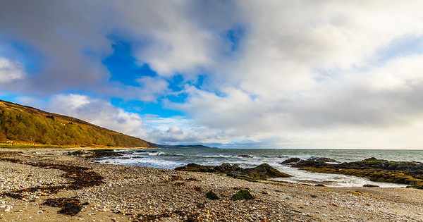 The coast at Pirnmill during golden hour yesterday.