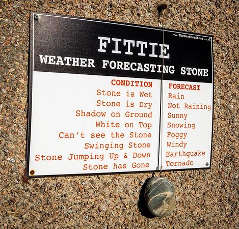 The Fittie Weather Forecasting Stone.  (Taken March 2017).  Footdee, Aberdeen.