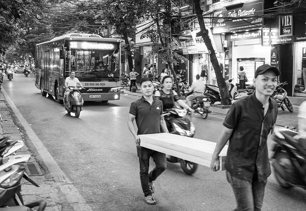 Street photography in Hanoi.
