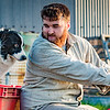 Wallace @wallace2612 @rural2kitchen and Blue, on a #farm shoot in May this year.