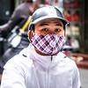 Masked biker