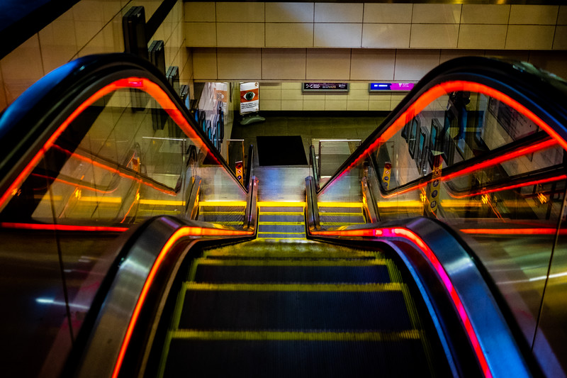 The Glasgow subway has gone all funky neon... when did that happen?!