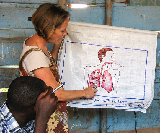 Health education outreach service in Kampala, Uganda.  June 2010.