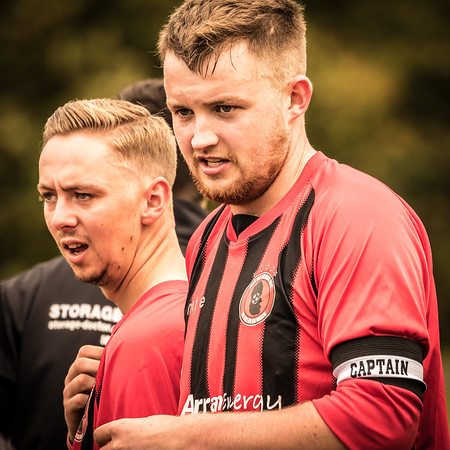 Best of luck to @dannyhead91 (right) who leaves the @isleofarranafc squad for a few months for travels afar.  Terrific work to helping the team get set up to its current form.  More action shots now online from yesterday's match... see link in bio and click Latest Work.
