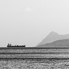 Tanker at anchor off Brodick Bay.